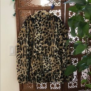 Urban Outfitters Tops - Leopard fur over sized hoodie